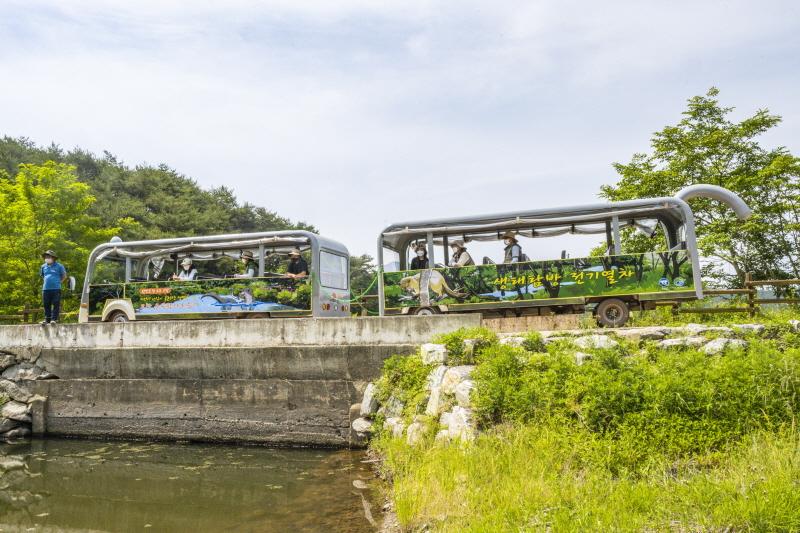 운곡저수지를 도는 수달열차